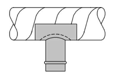 straight saddle tap