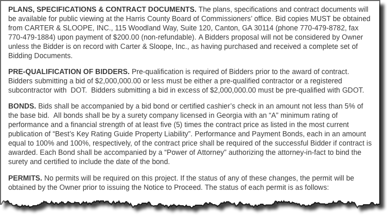 Bidding Documents