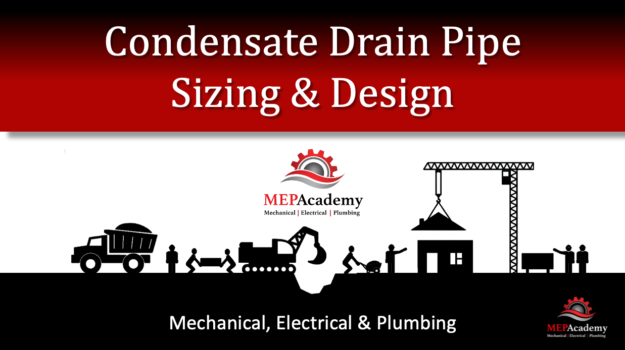 Condensate drain pipe design and layout