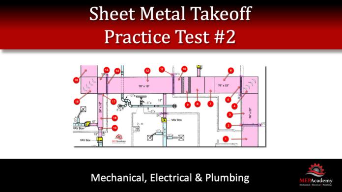 Sheet Metal Takeoff Practice Test 2