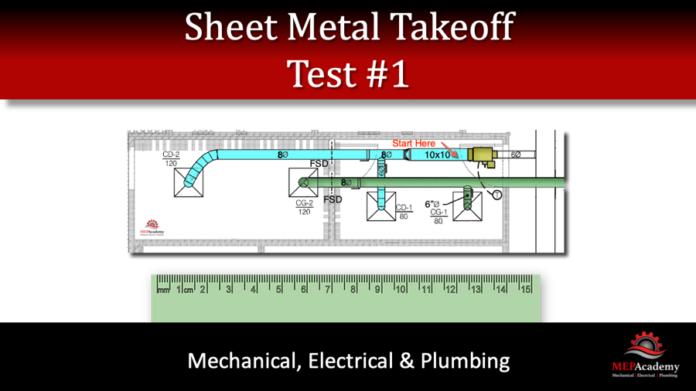 Sheet Metal Takeoff Test 1