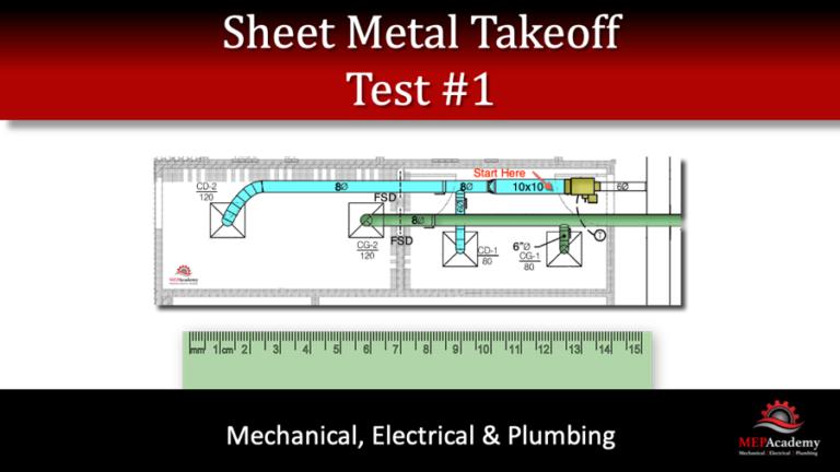 Sheet Metal Takeoff – Test 1