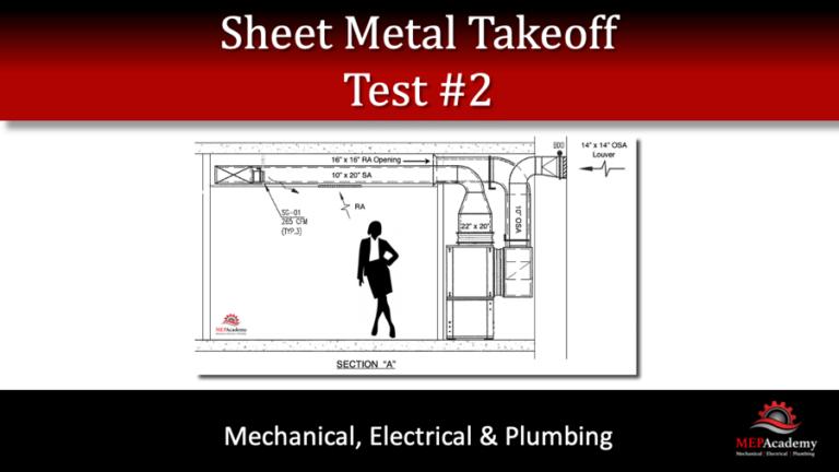 Sheet Metal Takeoff – Test 2