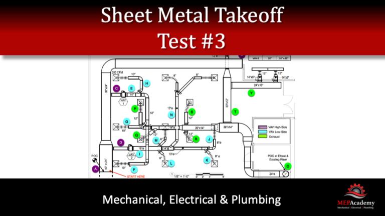 Sheet Metal Takeoff – Test 3