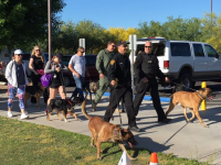 D&H AC with the Tucson police K9 walk 2016a