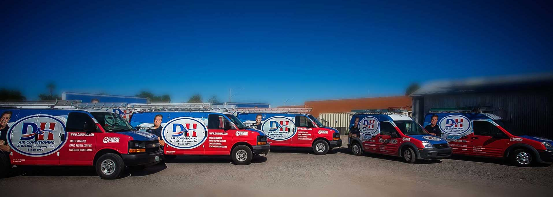 D&H AC Fleet in Oro Valley: Loaded with Parts for Air Conditioning Repair Services