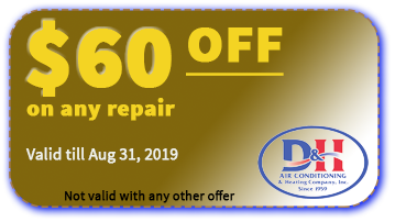 D&H AC $60 OFF coupon valid August 31 2019