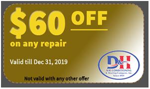 $60 OFF on AC repair coupon - Dec 31 2019