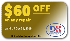 $60 OFF on AC repair coupon - Dec 31 2019