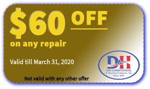 D&H AC $60 OFF coupon valid March 31 2020