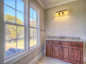 Avery Court bathroom vanity and window
