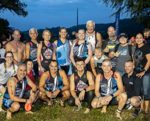 Group photo before 2018 Kerrville Triathlon, which just opened vendor registration for 2019.