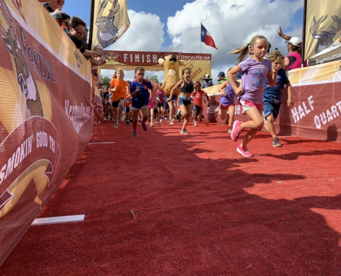 A record number of triathletes registered for the 2019 Kerrville Triathlon, including these future triathletes at the free kids fun run.