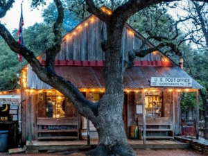 View of General Store in Lukenbach. 7 Places to Visit on Your Road Trip Between Austin and Kerrville