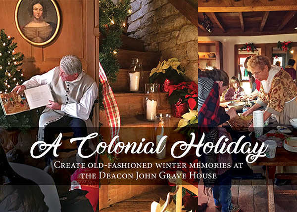 a colonial holiday for children at the deacon john grave house