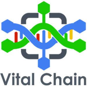 Vital chain color logo