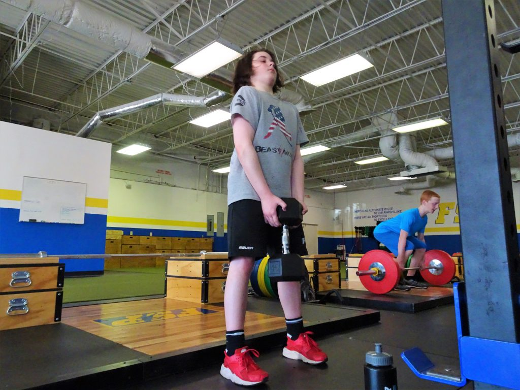 fsp elite athlete performing goblet deadlifts