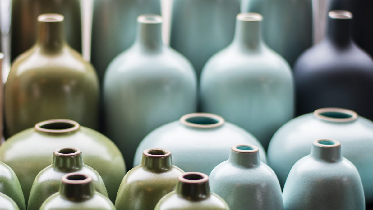 filed stoneware jugs