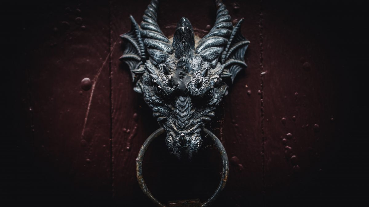 black dragon head wall decor