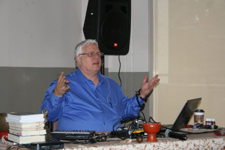 Dr Richard Jelusich during a speaking engagement
