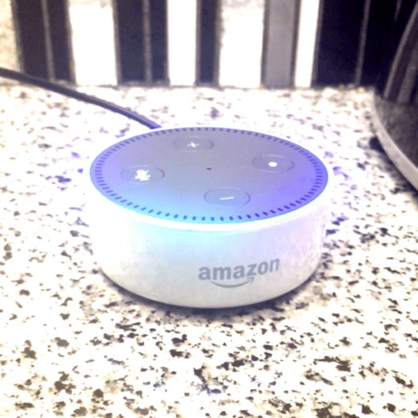 Amazon Echo Dot in Kitchen