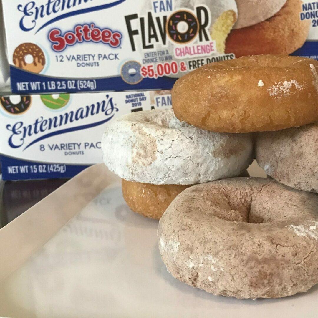 Fan Flavor Challenge Entenmann's Donuts on a table