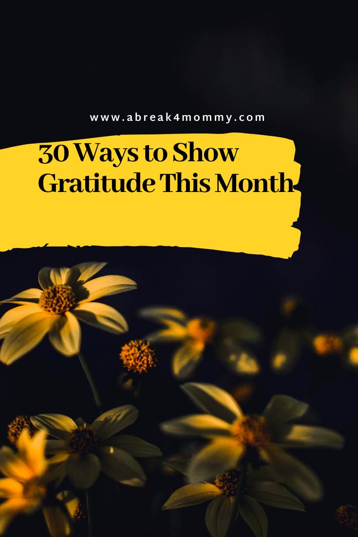 30 days to show gratitude