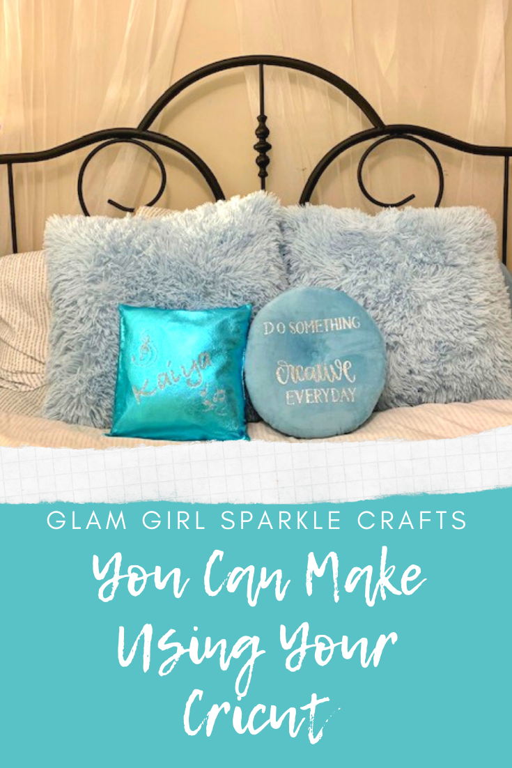 Are you new to your Cricut machine  or just looking for a way to glam up some of your items? Here are a couple of quick and easy crafts you can make using your Cricut.
