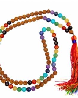 Seven Chakra Mala + Rudraksha Beads