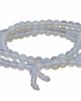 Gemstone Elastic Mala Prayer Bracelet - Opalite