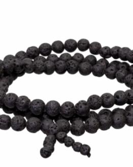 Gemstone Elastic Mala Prayer Bracelet - Lavastone