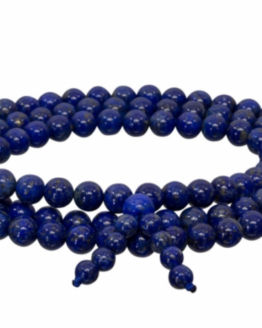 Gemstone Elastic Mala Prayer Bracelet - Lapis Lazuli