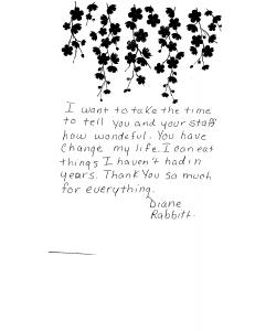 Diane-Rabbit - Testimonial