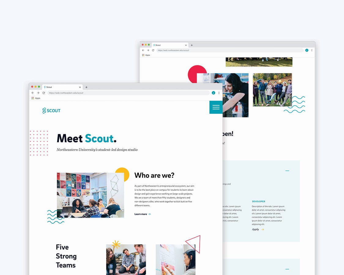 scout web design