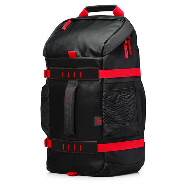 HP BackPack Odyssey Negro Rojo