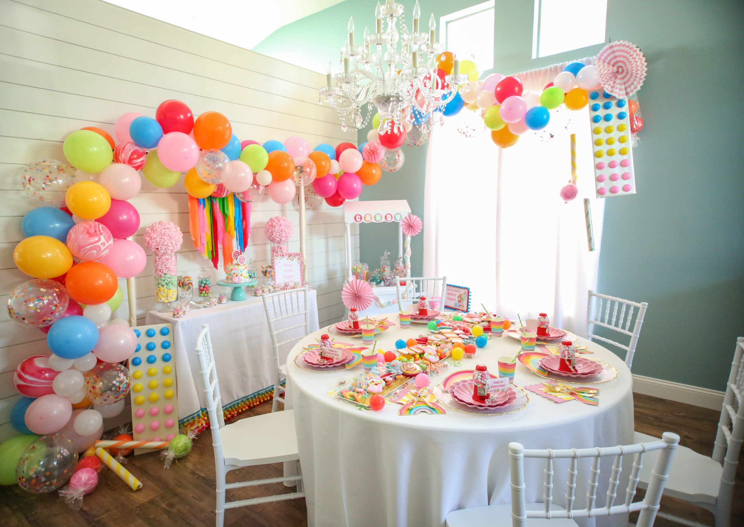 Decadent over the top rainbow candy party Jojo Siwa