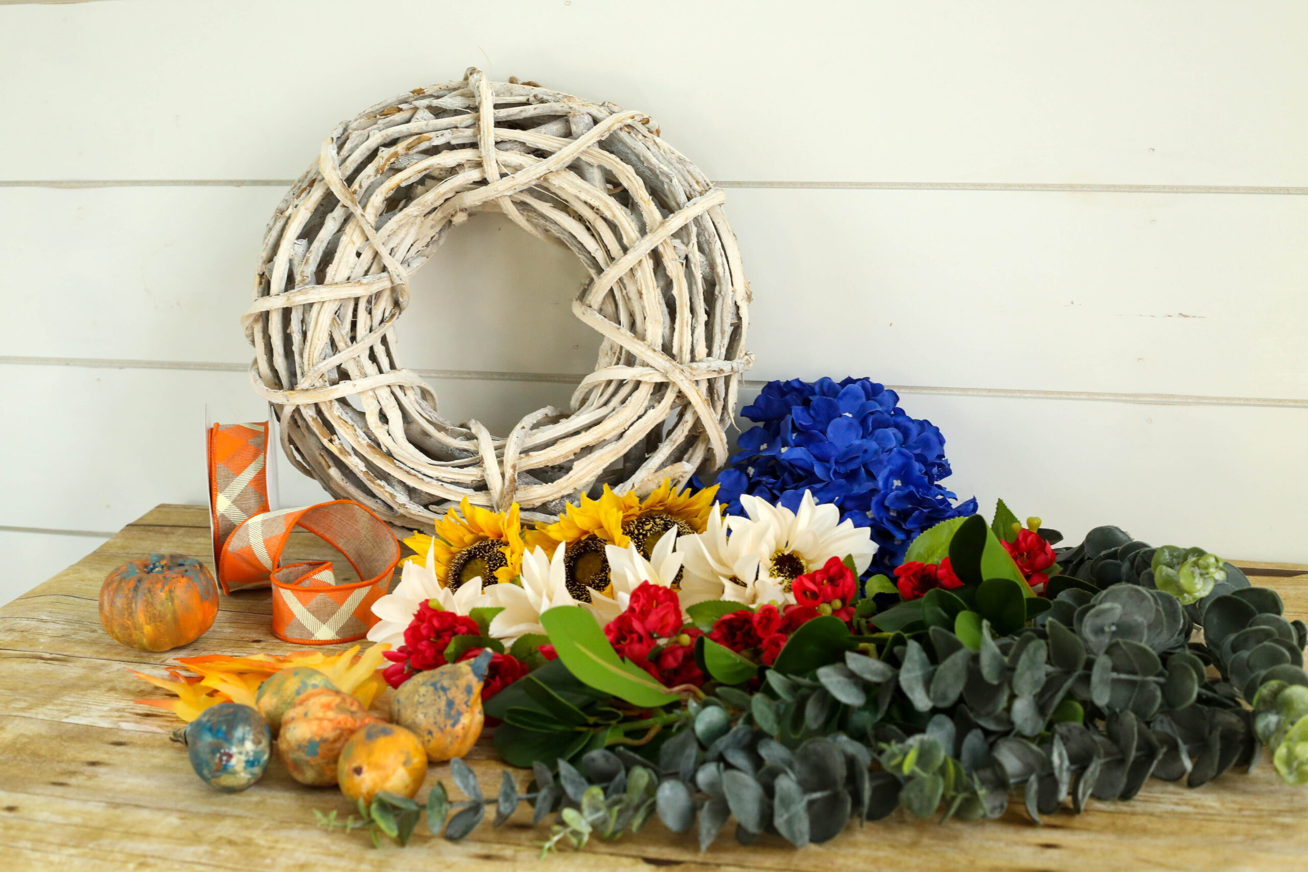 supplies for floral wreath