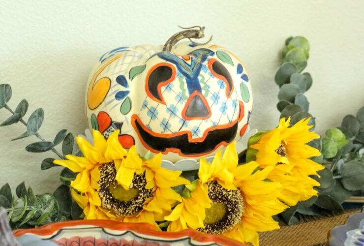 Talavera Painted Pumpkin