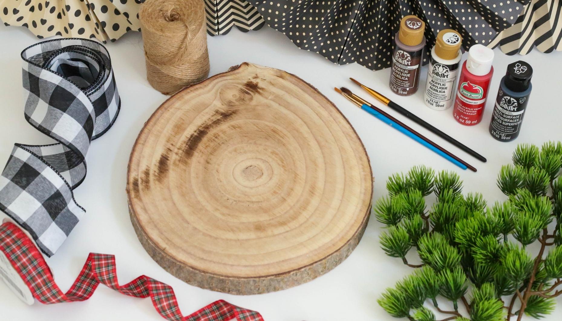 materials for reindeer wood slice