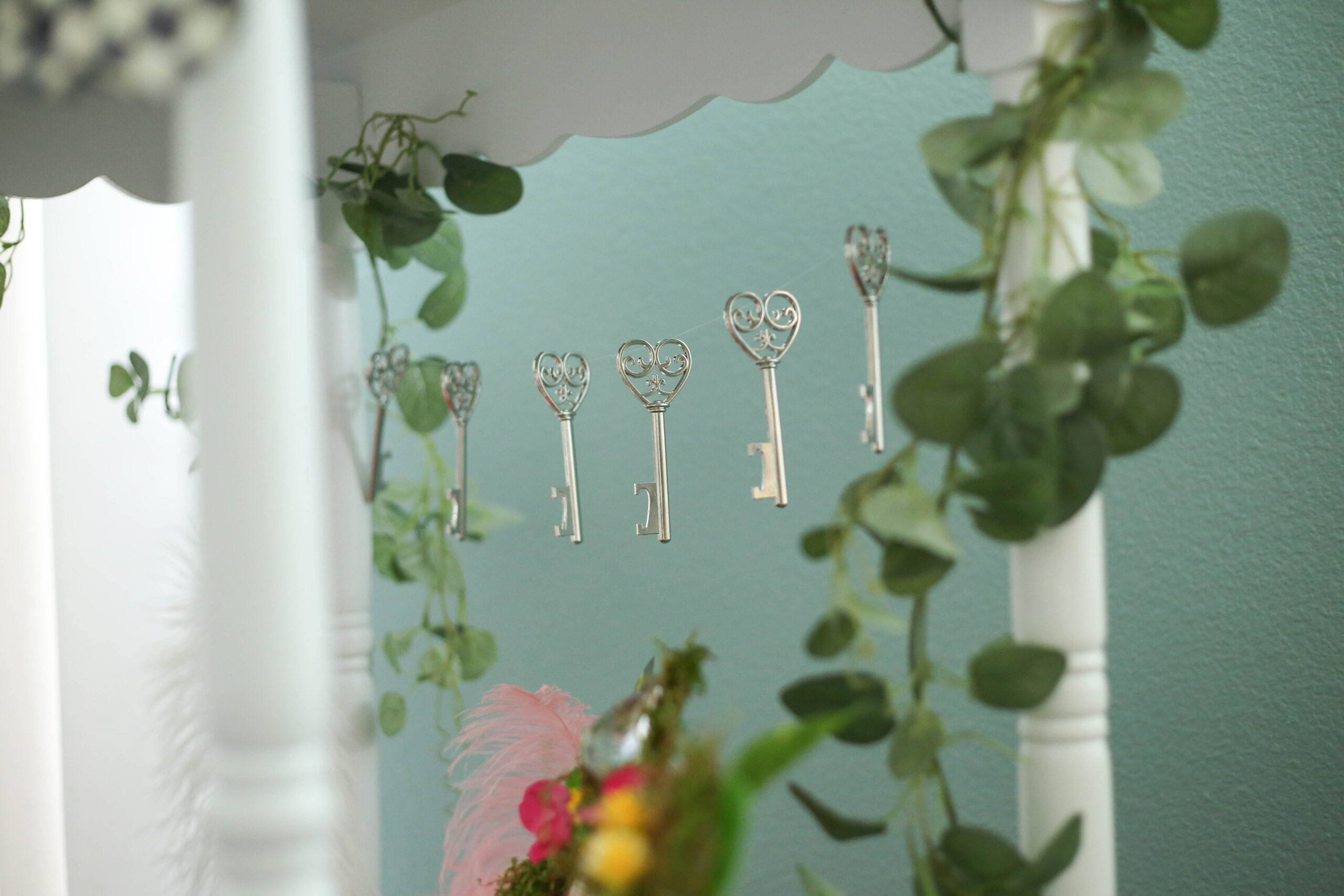 eucalyptus garland and key garland