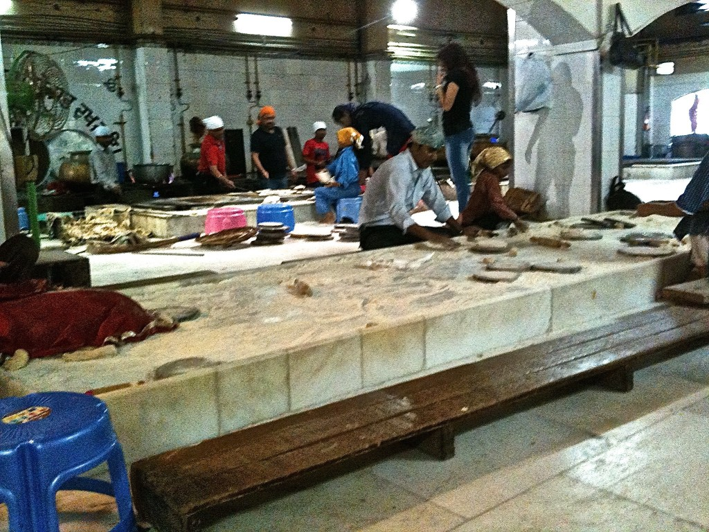 kitchen of Sikh temple