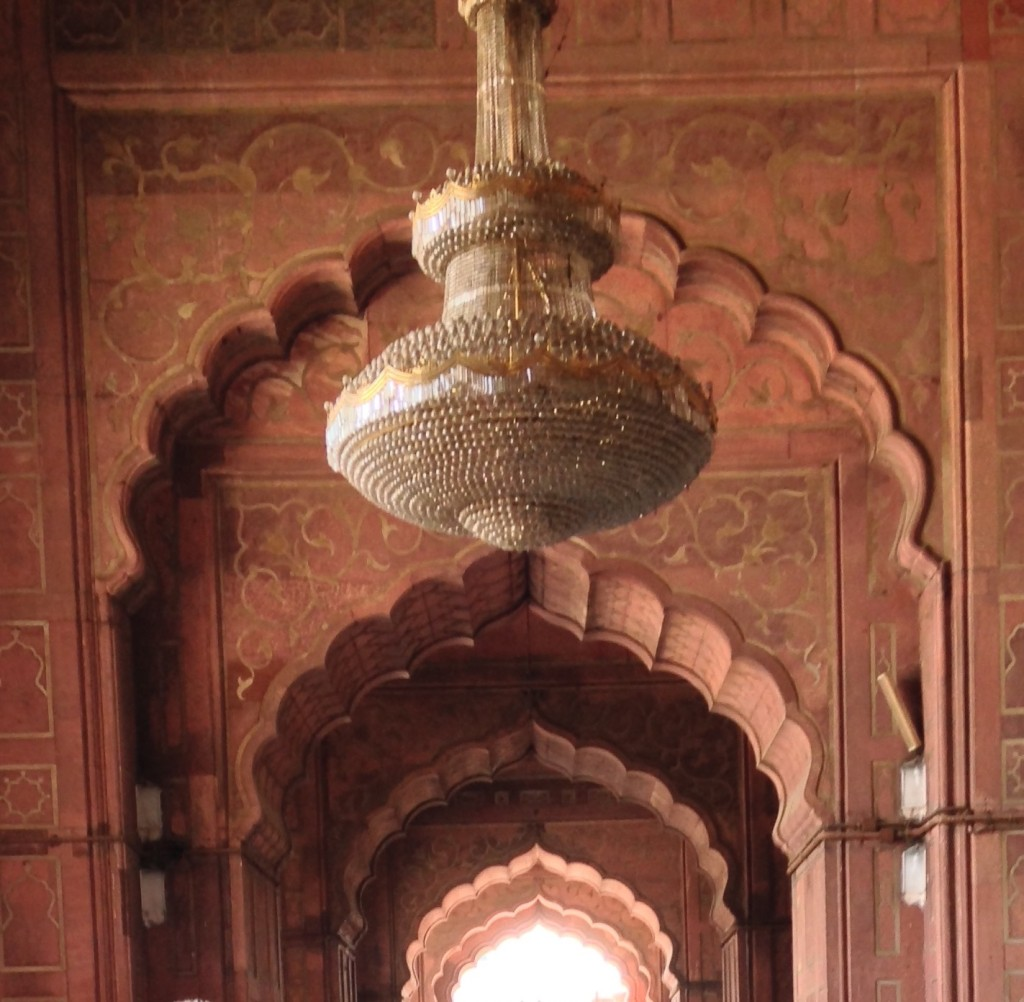 lovely chandelier in mosque