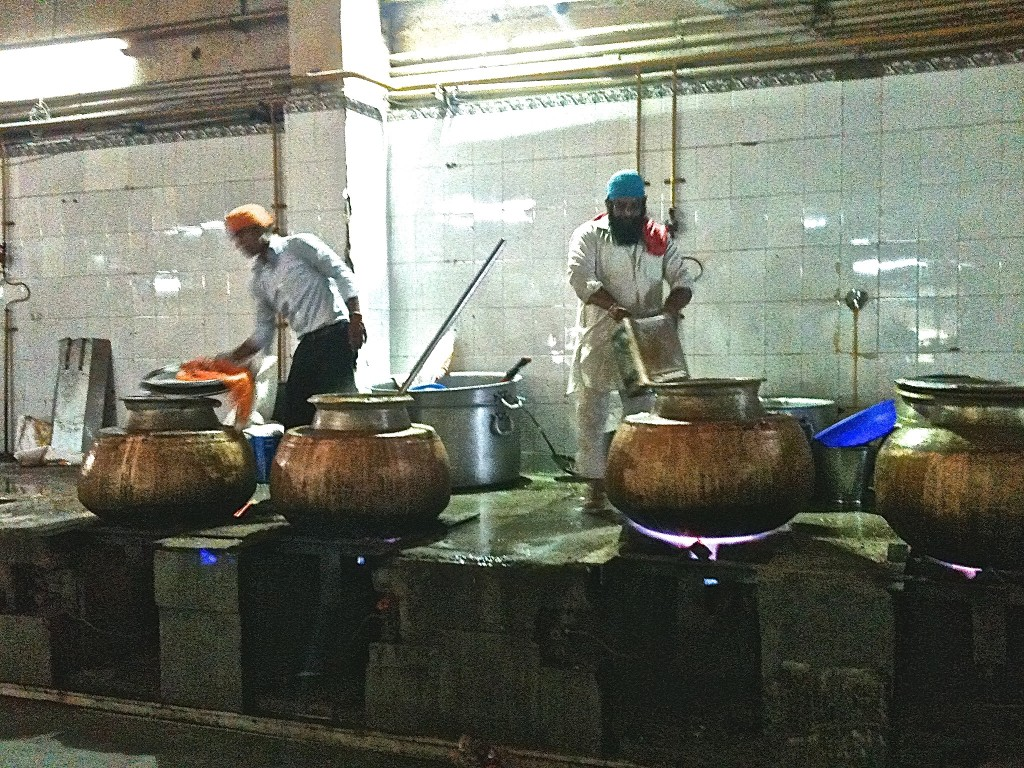 pots at Sikh Temple