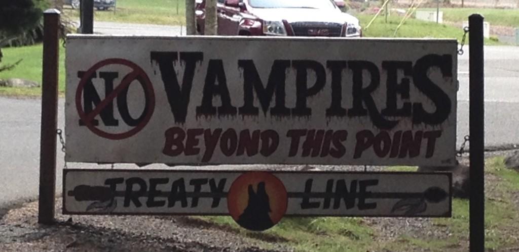 Sign at La Push