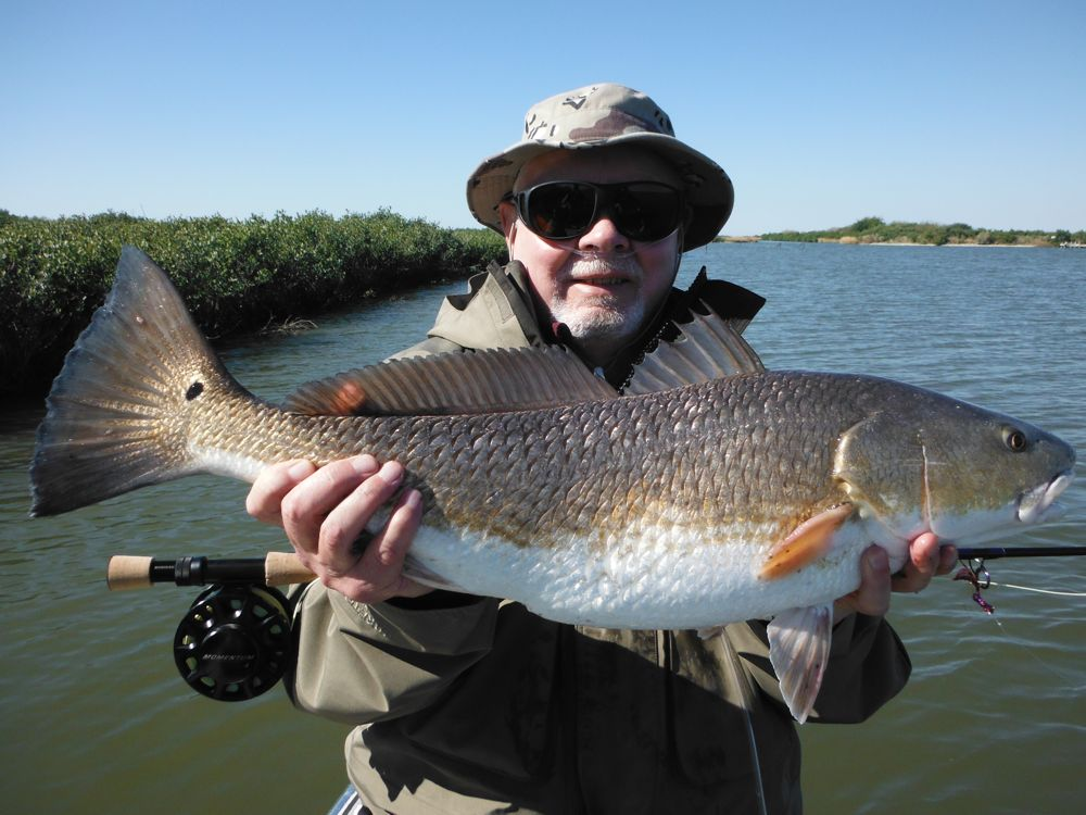 A Louisiana redfish (note the cannula in my nose!)