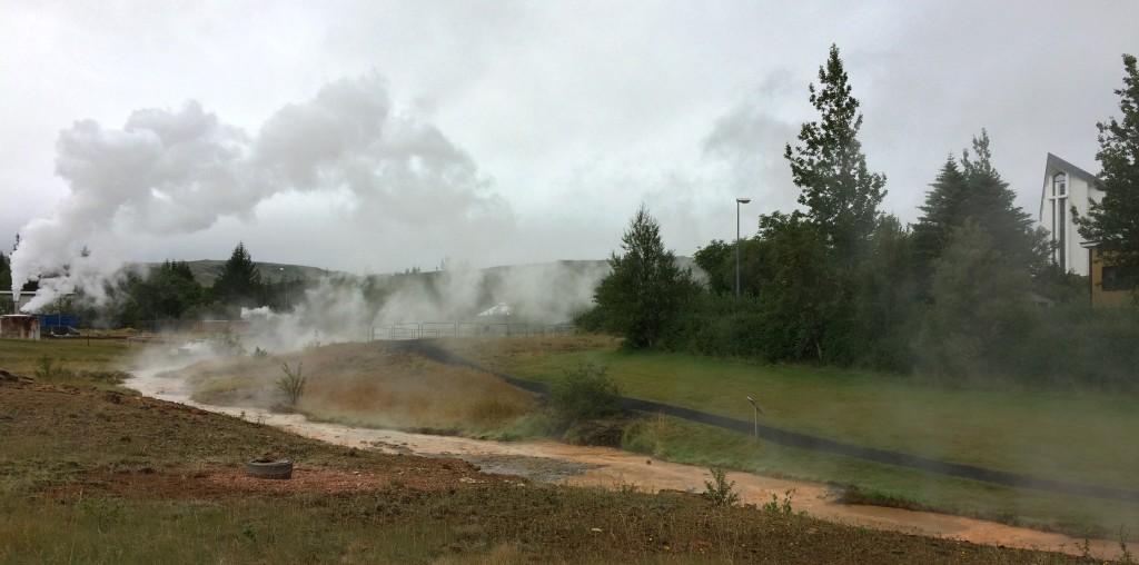 Hot creek in Hveragerdi