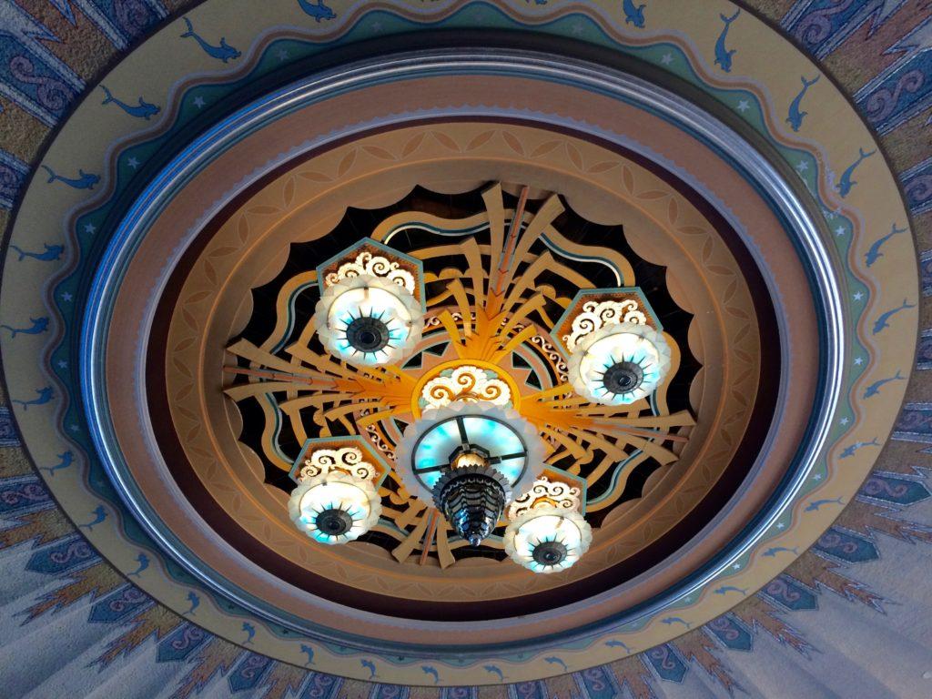 Central ballroom ceiling lights
