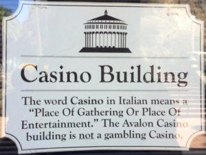 Santa Catalina Casino signage