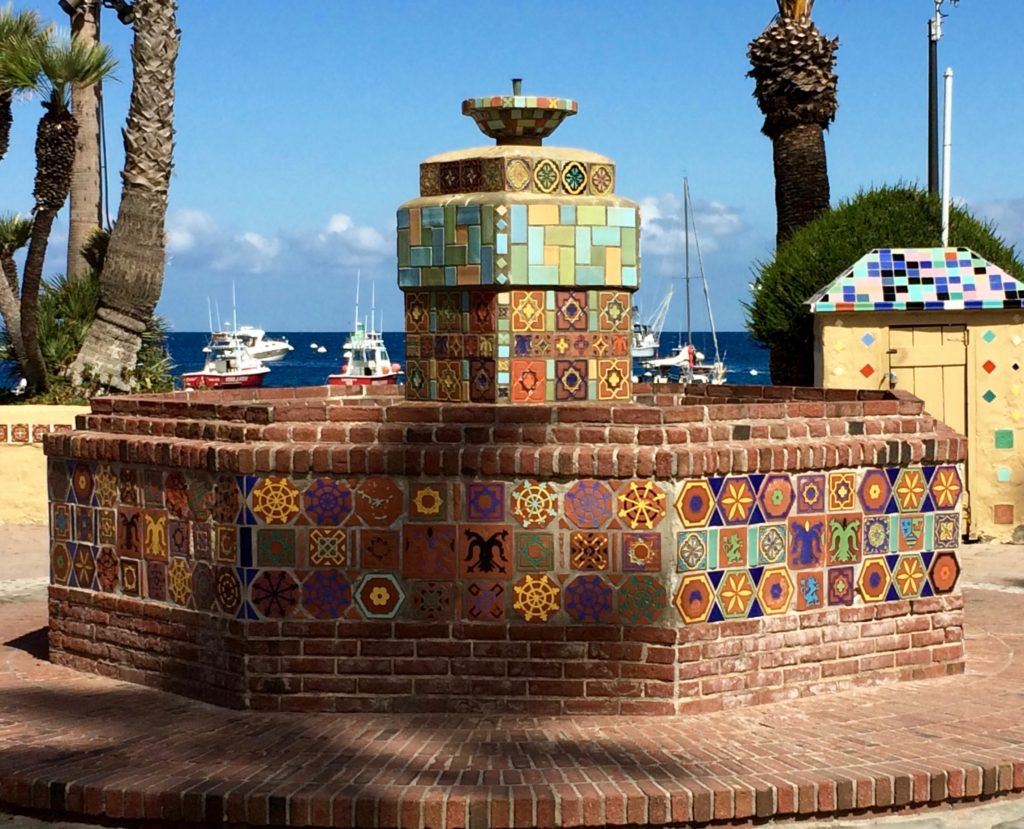 Tile fountain of Santa Catalina