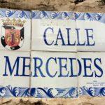 Tile street plaque - Calle Mercedes